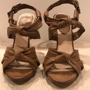 Max Studio Shoes - Maxstudio Tan Brown Leather Sandals 8.5